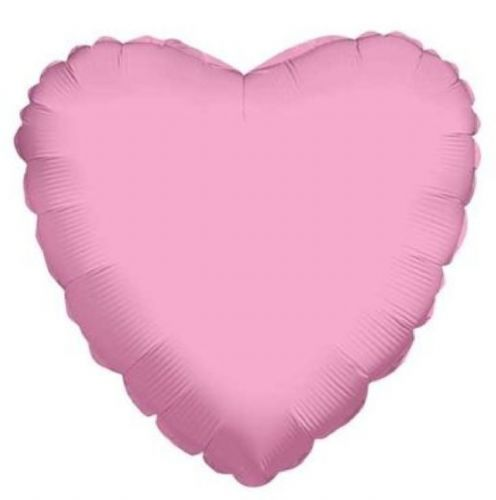 "4"" Baby Pink Heart - Airfill Flat - requires heatseal"